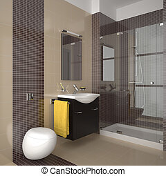 Baño moderno beige