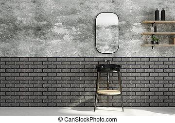 Baño moderno con espacio de copiado