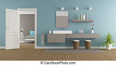 Baño moderno con lavabo