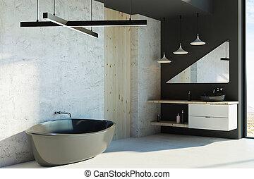 Baño moderno con luz solar
