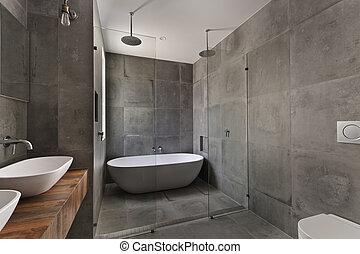 Baño moderno en apartamentos de lujo