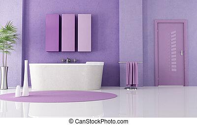 Baño moderno púrpura
