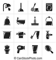 Baño y iconos de higiene