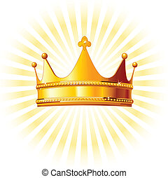 backgroun, corona de oro, encendido