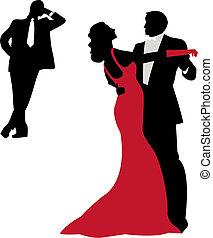 Bailando siluetas