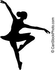 bailarín de niña, bailarina, ballet