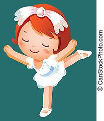 bailarín de niña, ballet