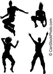 bailarín, siluetas