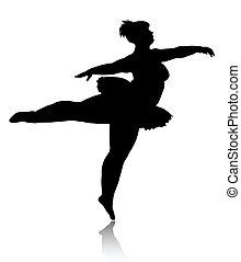 bailarina, sobrepeso, silueta