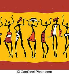 Bailarinas africanas silueta.