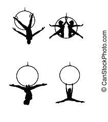 bailarines, aéreo