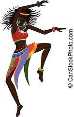 Baile étnico mujer africana