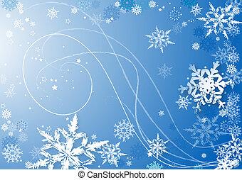baile, copos de nieve