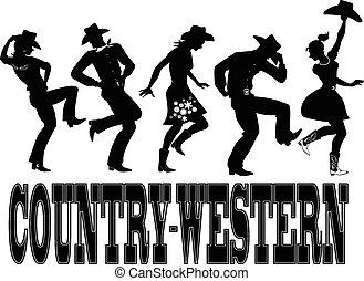 Baile de country silueta ba