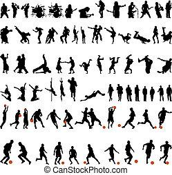 Baile y juego deportivo