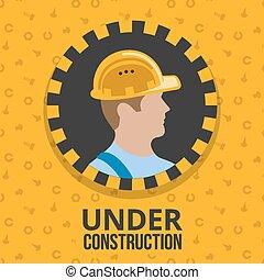 Bajo el cartel de construcción