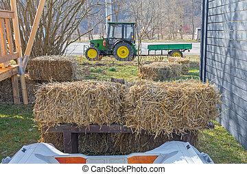 bala, granja, heno