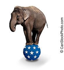 Balancing elefante