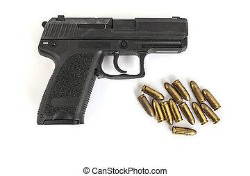 balas, arma de fuego