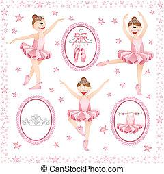 Balerina rosada collage digital