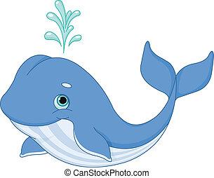 ballena, caricatura