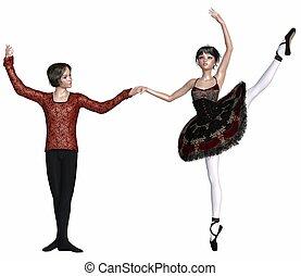 ballet, pas, de, deux, español