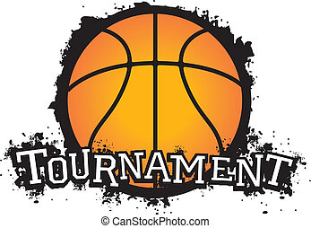 baloncesto, torneo, vector