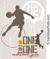 baloncesto, uno