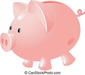 banco, cerdo