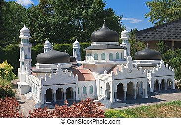 """banda, paraíso, indonesia., """"minimundus""""., klagenfurt., miniatura, parque, austria, bayturrahman, mezquita, aceh"""