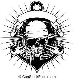 Bandana de cráneo pirata