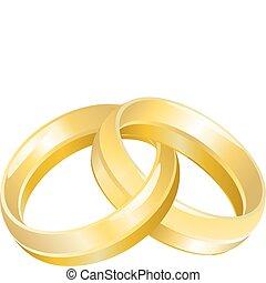 Bandas de bodas o anillos