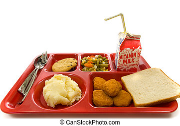Bandeja de almuerzo escolar