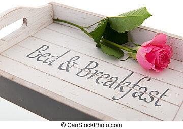 bandeja de desayuno, cama