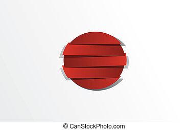 Bandera abstracta creativa de Japón