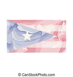 Bandera acuarela de Puerto Rico