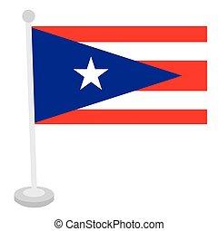 Bandera aislada de Puerto Rico