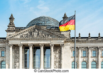 Bandera alemana en Berlín, Alemania