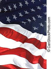 Bandera americana, vista vertical