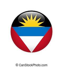 Bandera Antigua y botón de barbuda