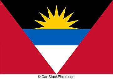 bandera, barbuda, antigua