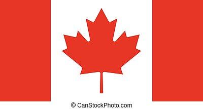 bandera canadá, funcionario, vector