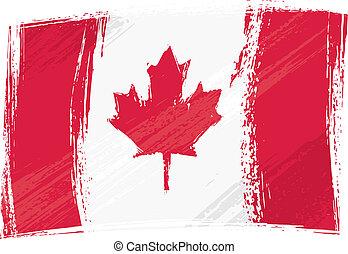 bandera canadá, grunge