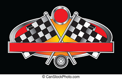 bandera, carreras, diseño