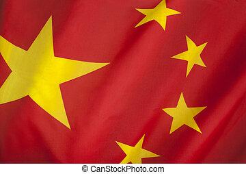 bandera de china, república, pueblos