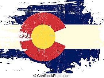 Bandera de colorado arañada