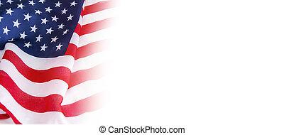 Bandera de EE.UU. sobre fondo blanco