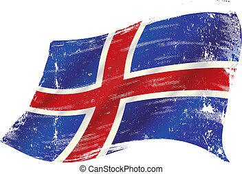 Bandera de grunge islandesa