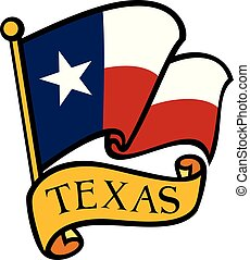 Bandera de ilustración vectorial de Texas