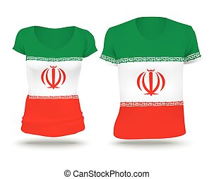 bandera de irán, diseño, camisa